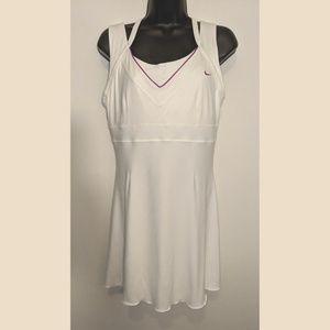 Nike Dri Fit White Flare Dress Tennis